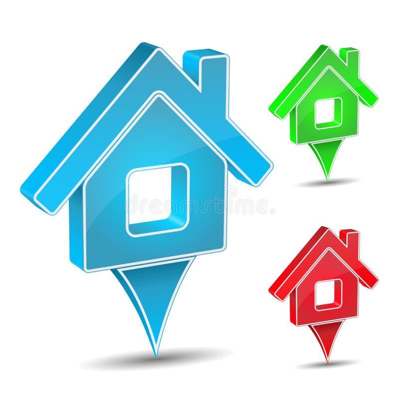 Икона дома бесплатная иллюстрация