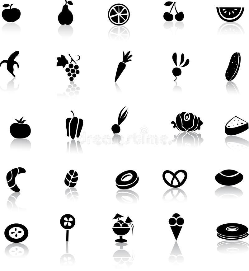 Икона еды - плодоовощ, овощ бесплатная иллюстрация