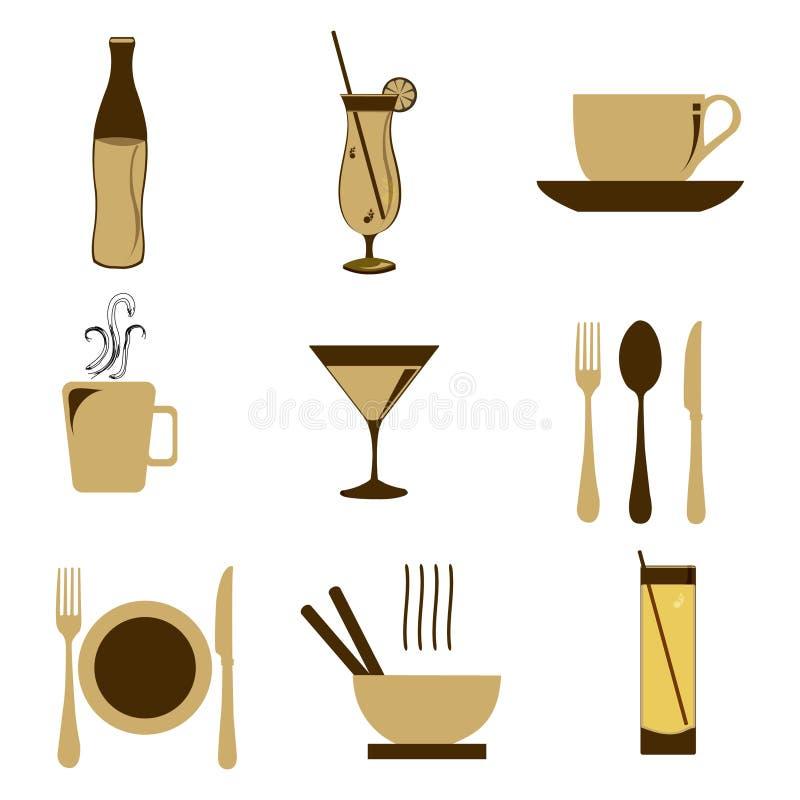 икона еды иллюстрация штока