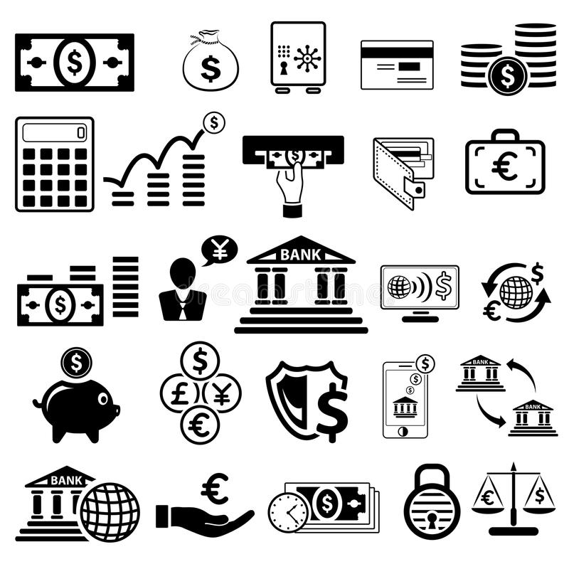 Икона дела и финансов иллюстрация штока
