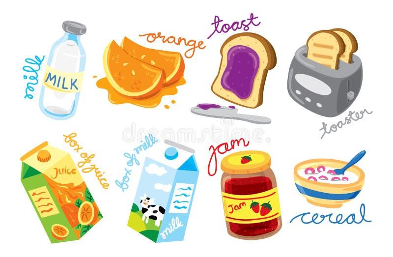 Икона завтрака иллюстрация вектора