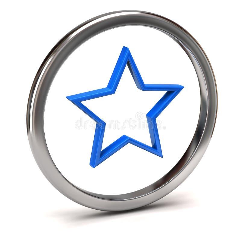 Икона звезды иллюстрация штока