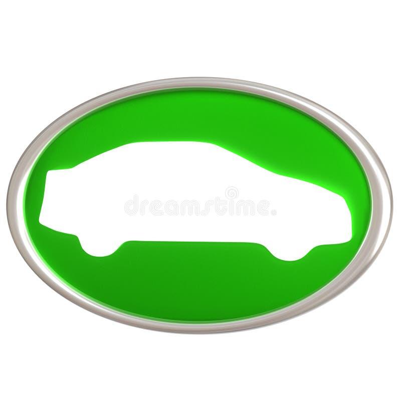 икона зеленого цвета автомобиля 3d бесплатная иллюстрация