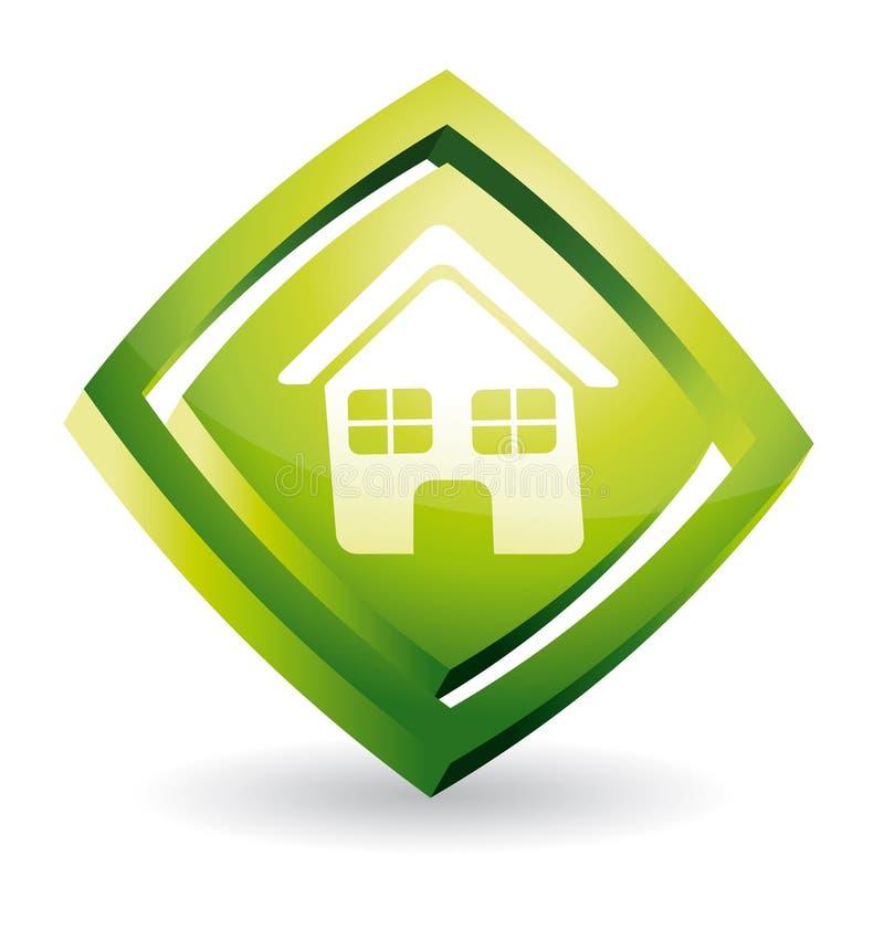 икона зеленой дома бесплатная иллюстрация