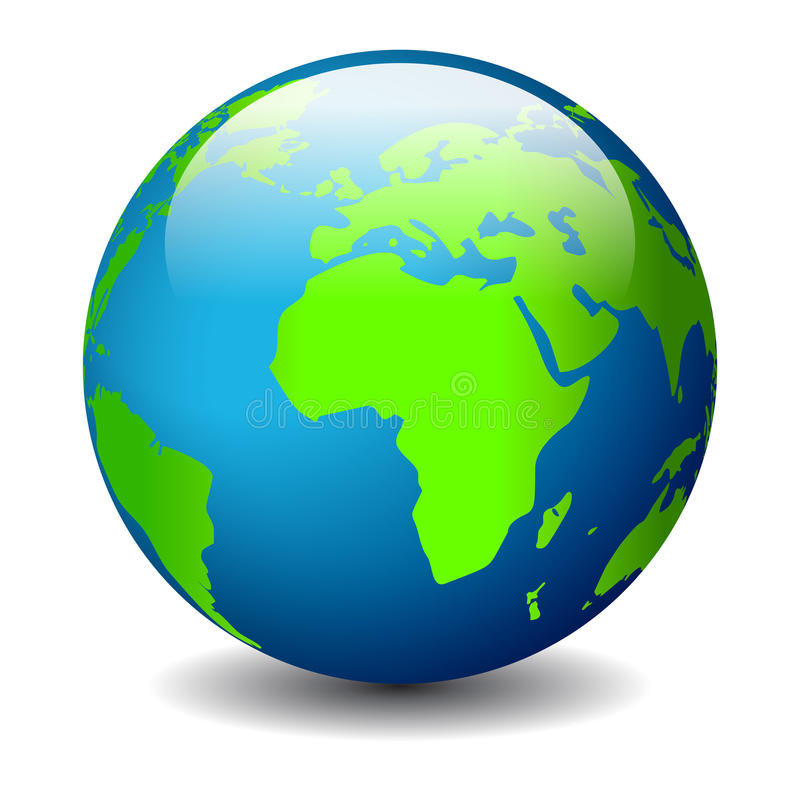 Икона земли глобуса иллюстрация вектора