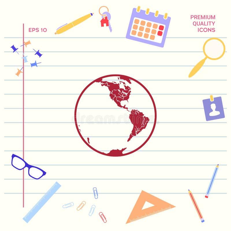 икона земли логос иллюстрация вектора