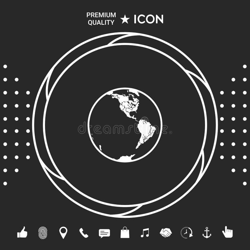 икона земли логос иллюстрация штока