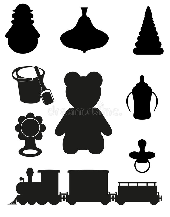 Икона игрушек и вспомогательного оборудования бесплатная иллюстрация