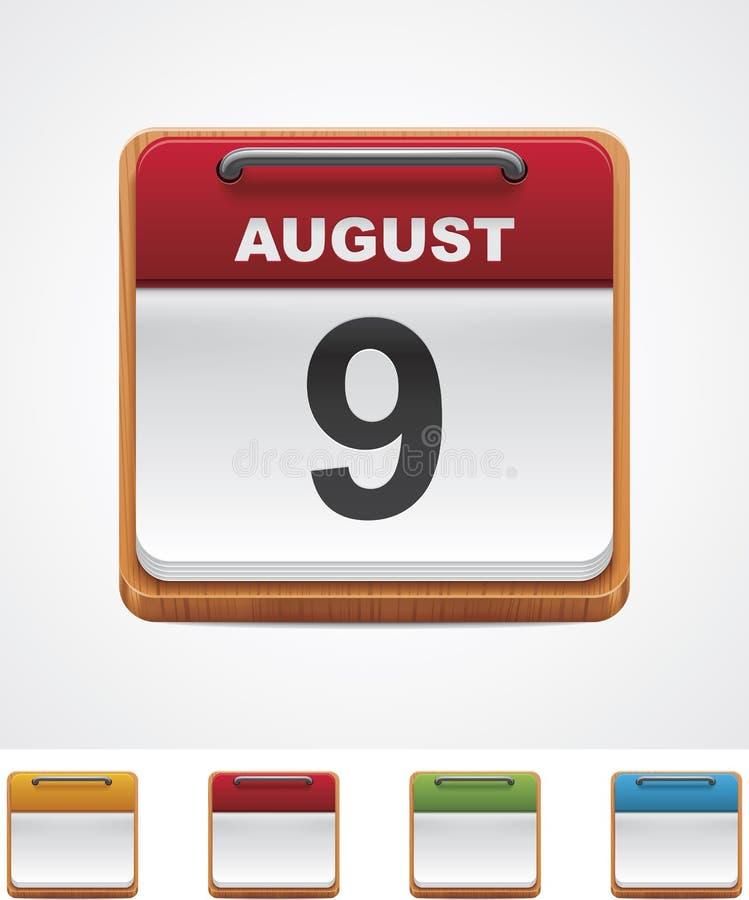 Икона календара вектора бесплатная иллюстрация