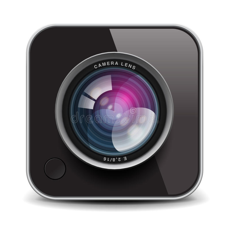 Икона камеры фото цвета, изображение Eps10 иллюстрация штока