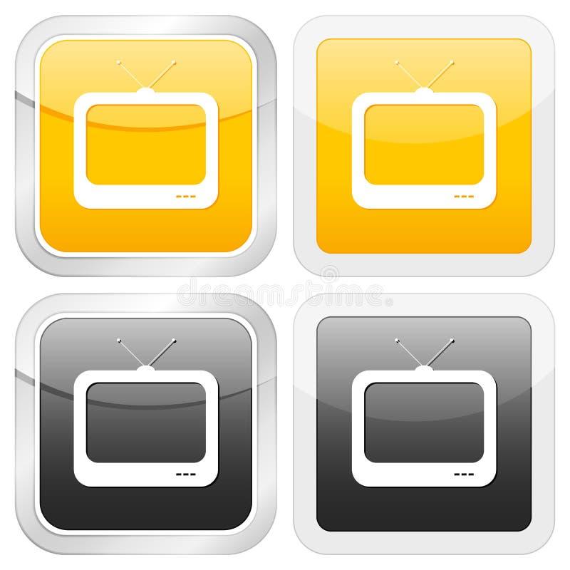 икона квадратный tv иллюстрация штока