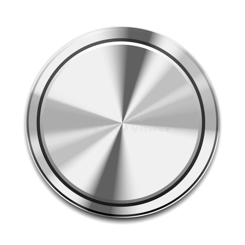 Икона кнопки металла иллюстрация штока