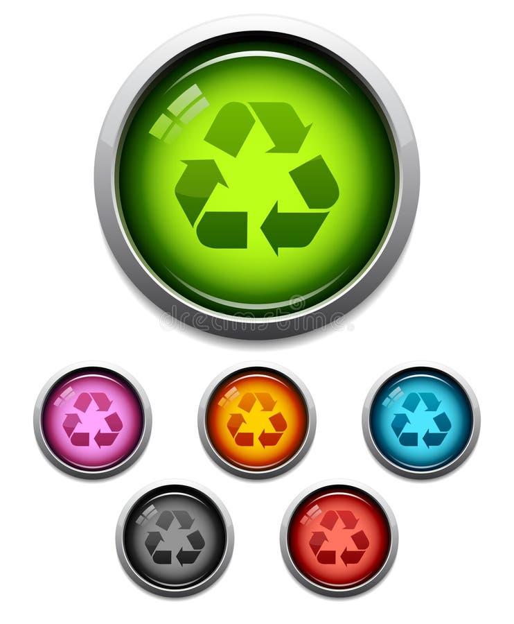 икона кнопки рециркулирует иллюстрация вектора