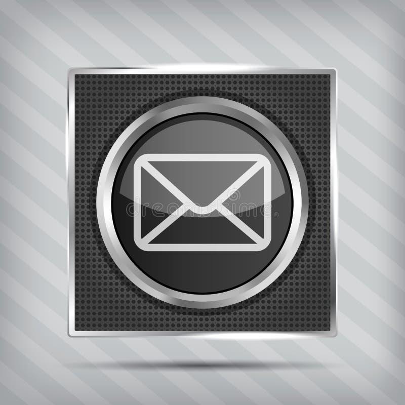 Икона кнопки электронной почты бесплатная иллюстрация