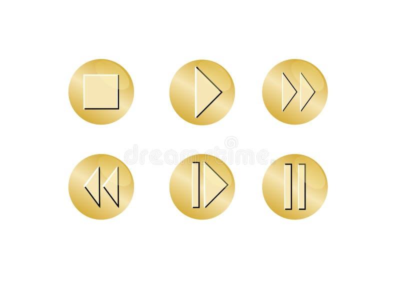 икона кнопки стоковые фотографии rf