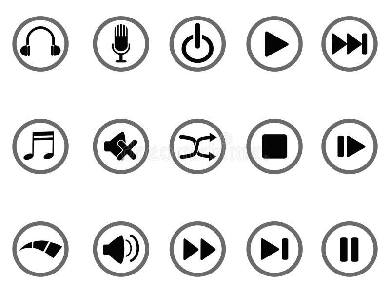 Икона кнопок средств иллюстрация штока