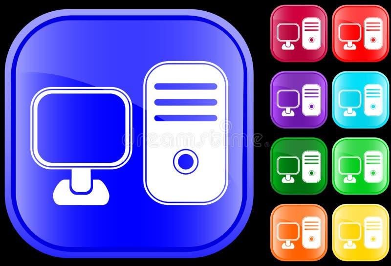 икона компьютера личная иллюстрация штока