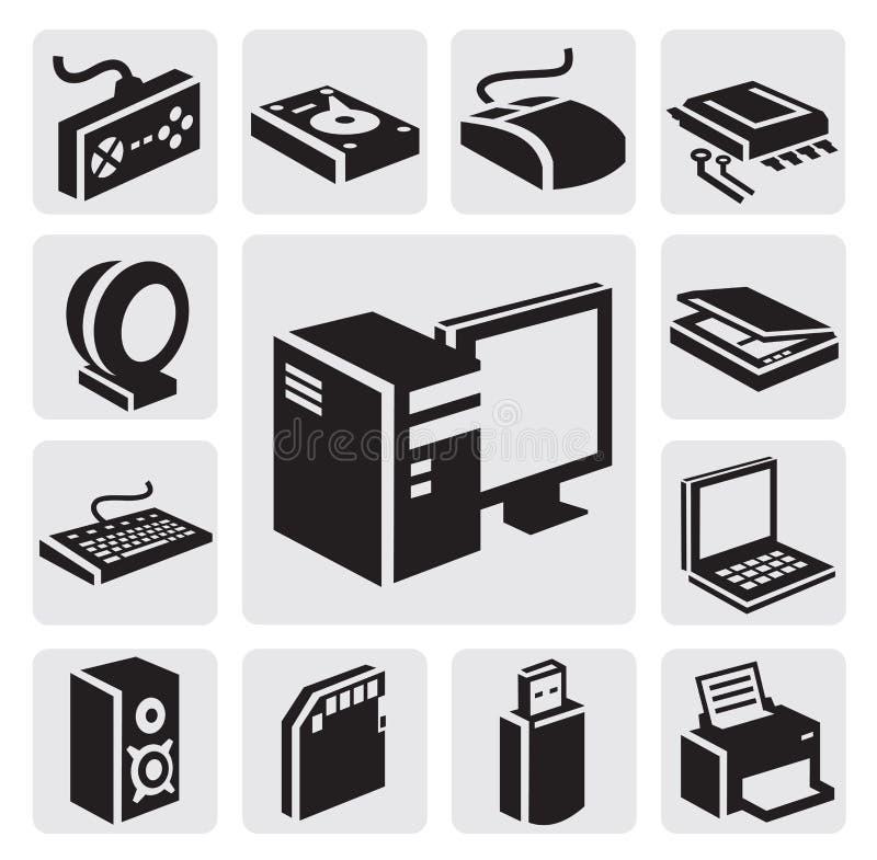 Икона компьютера иллюстрация вектора