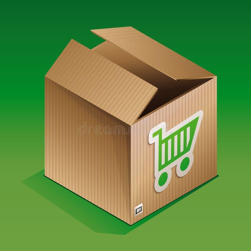 Икона коробки перевозкы груза иллюстрация вектора