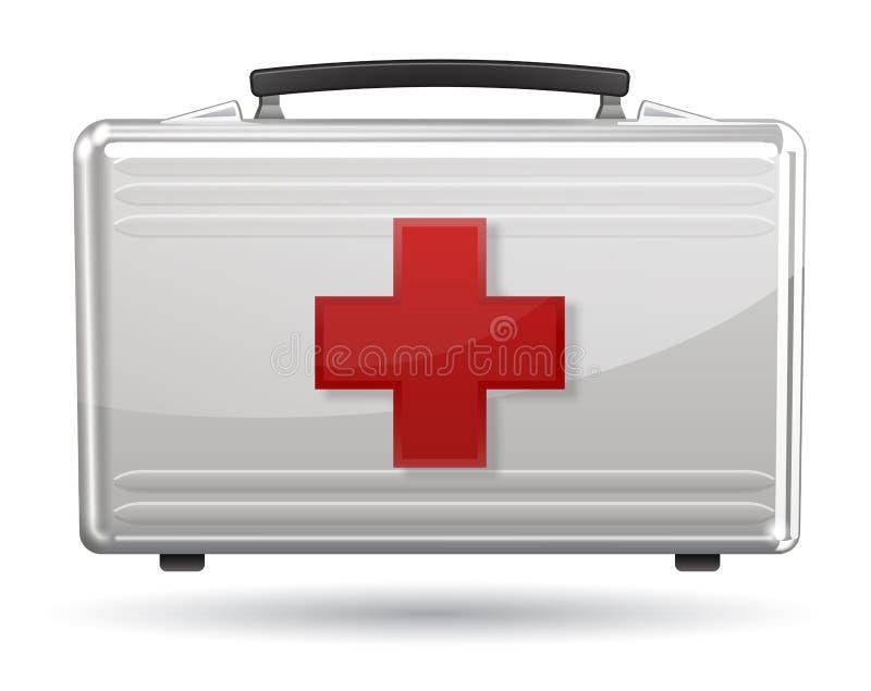 Икона коробки скорой помощи иллюстрация вектора
