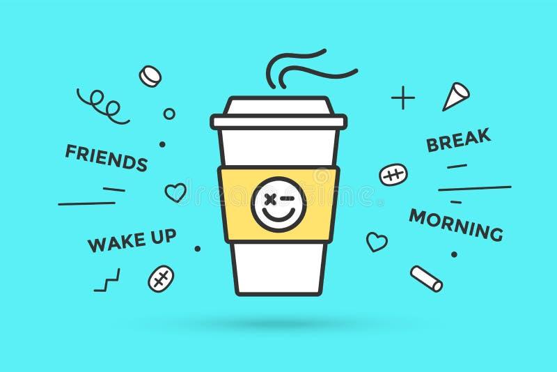 икона кофейной чашки иллюстрация штока