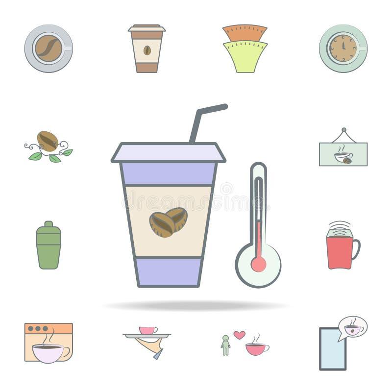 икона кофе горячая набор значков кофе всеобщий для сети и черни бесплатная иллюстрация
