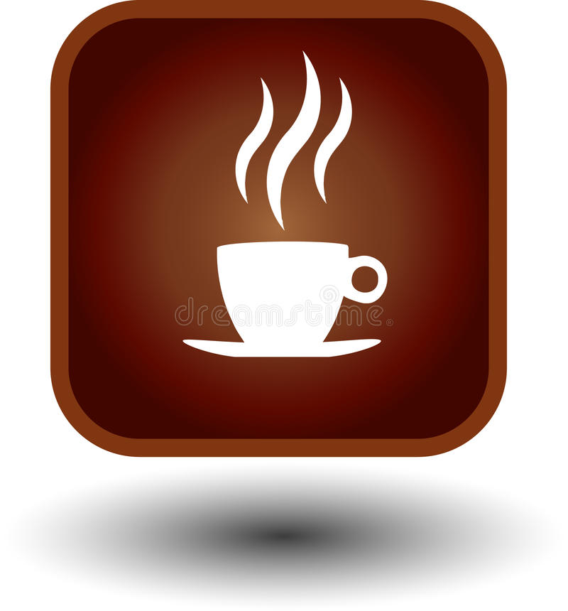 икона кофе горячая иллюстрация вектора