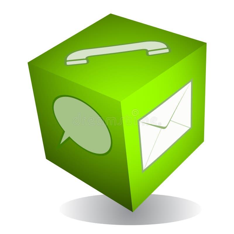 икона кубика связи иллюстрация вектора