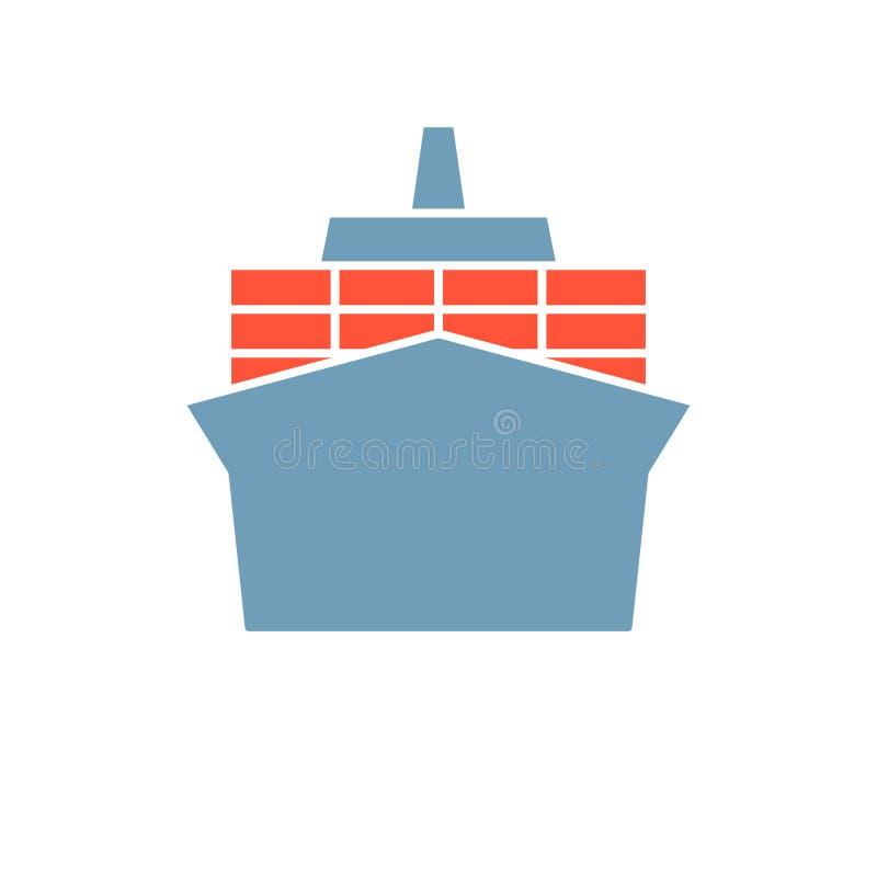 икона легких элементов конструкции контейнера клиппирования предпосылки 41a высокая если путь изображения извлекает желание кораб иллюстрация вектора