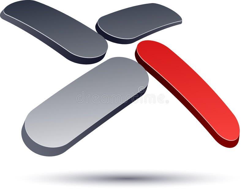 икона логоса 3D самомоднейшая x. бесплатная иллюстрация