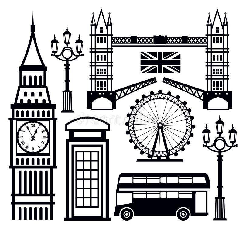 Икона Лондона иллюстрация вектора