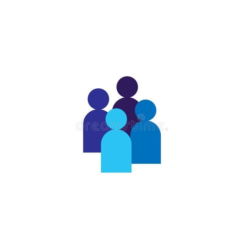 Икона людей Команда дела корпоративная работая совместно Социальный символ логотипа группы сети Знак толпы Conce руководства или  иллюстрация штока