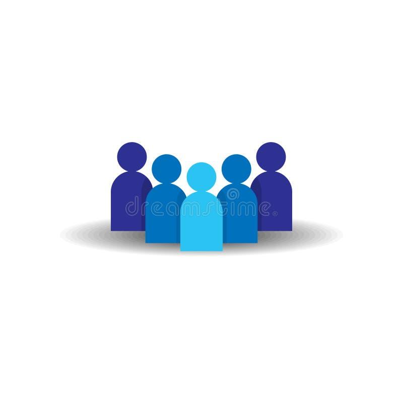 Икона людей Команда дела корпоративная работая совместно Социальный символ логотипа группы сети Знак толпы Conce руководства или  иллюстрация вектора