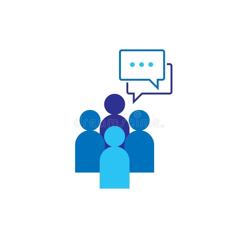 Икона людей Социальный символ логотипа группы сети беседы Команда дела корпоративная работая совместно Знак толпы Руководство или иллюстрация вектора