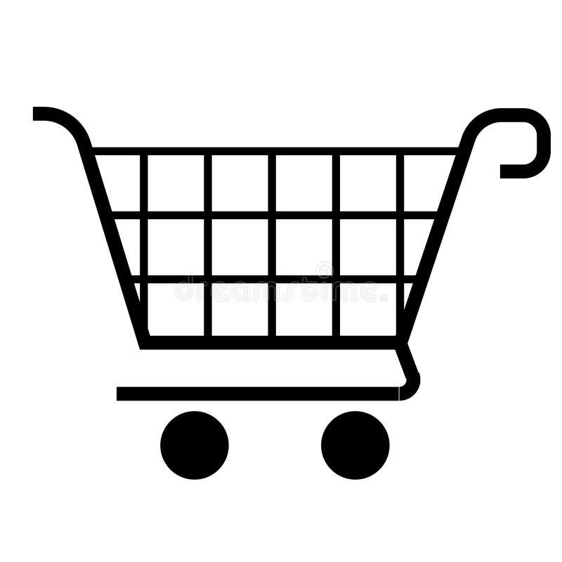Икона магазинной тележкаи (вектор)