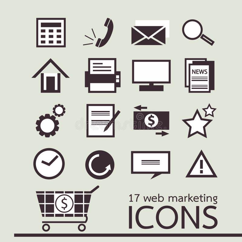 икона маркетинга паутины 17 иллюстрация вектора