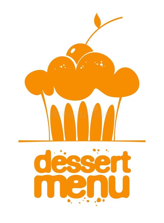 Икона меню десерта. иллюстрация штока