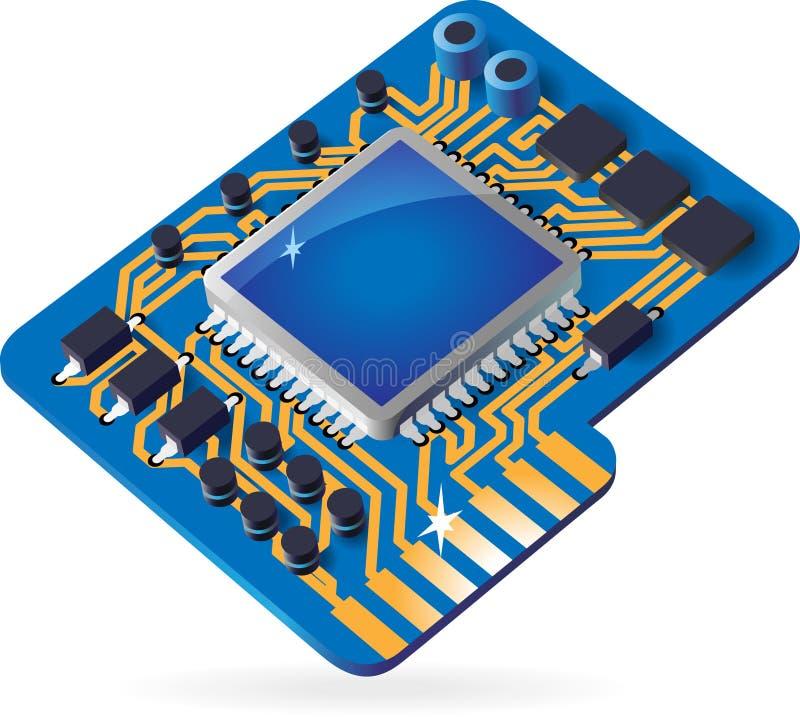 икона набора микросхем иллюстрация вектора