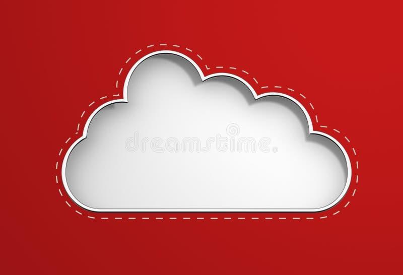 Икона облака иллюстрация штока