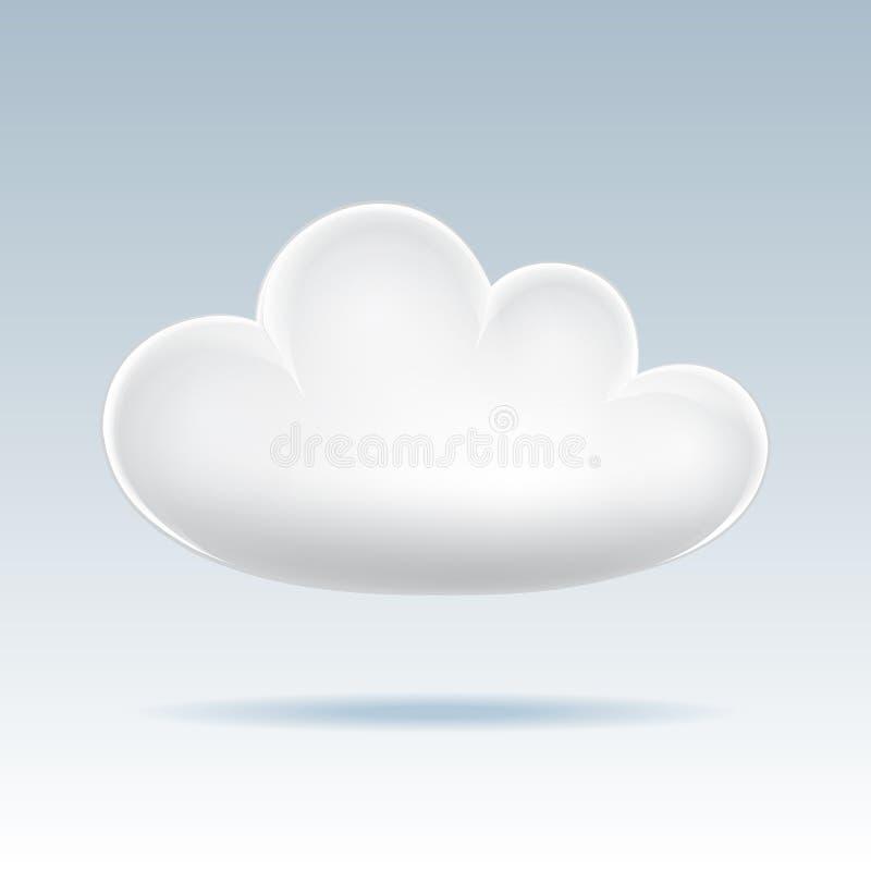 Икона облака. иллюстрация вектора