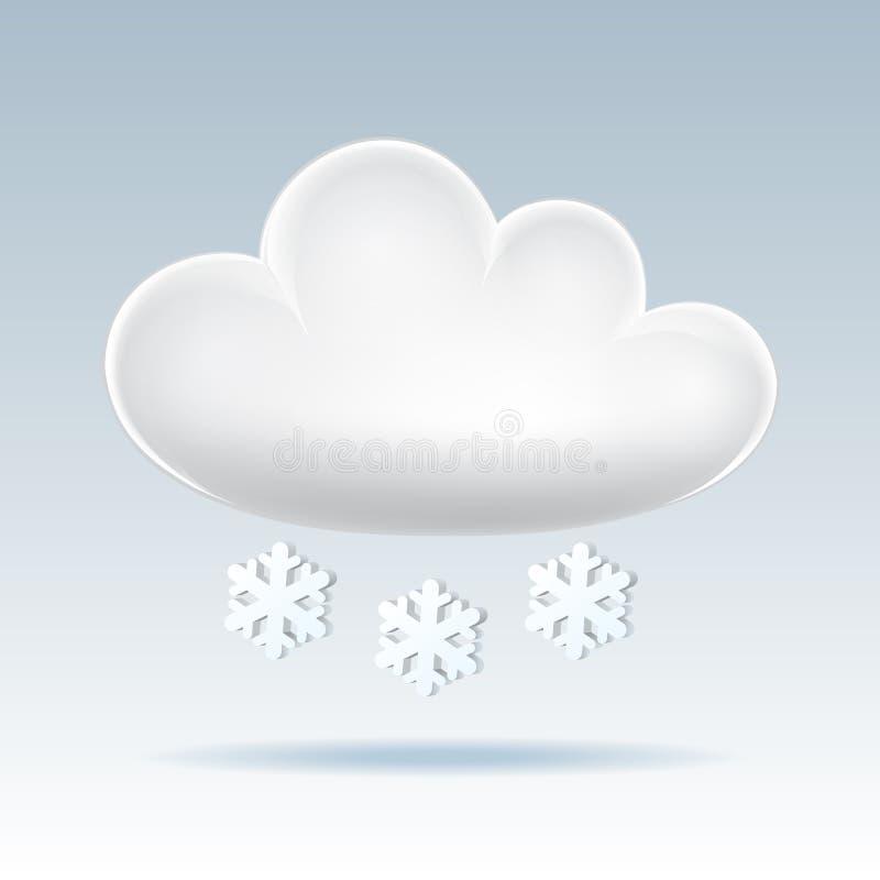 Икона облака. иллюстрация штока