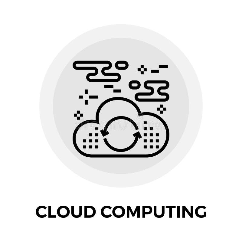 икона облака вычисляя иллюстрация штока