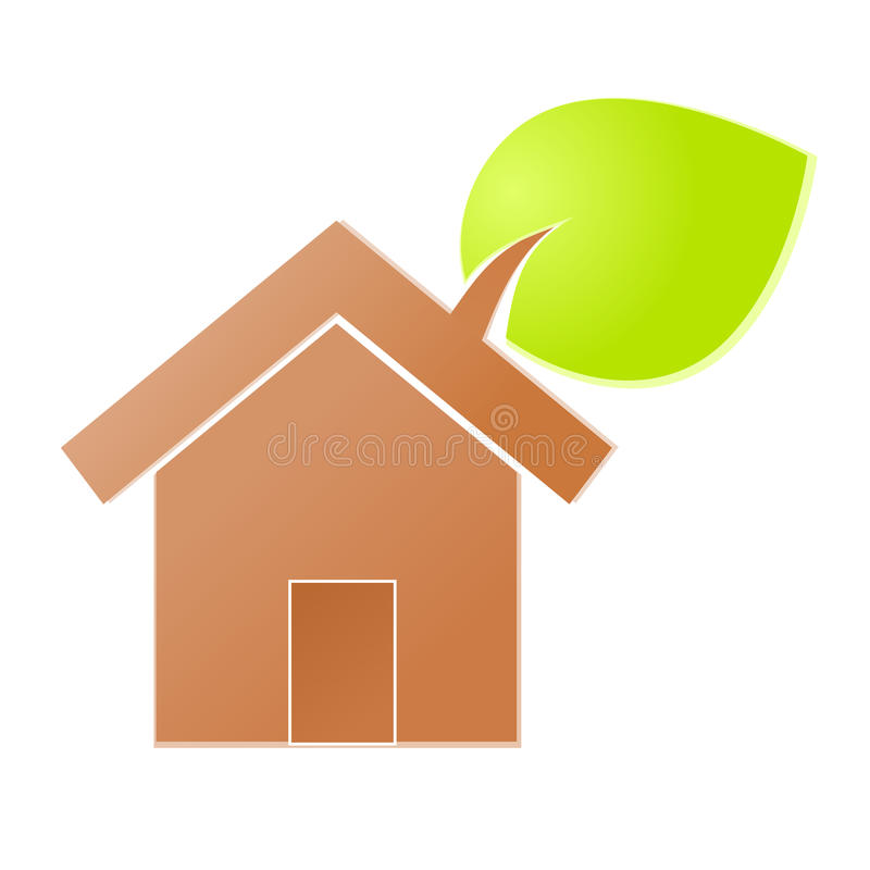 Икона окружающей среды домашняя иллюстрация вектора