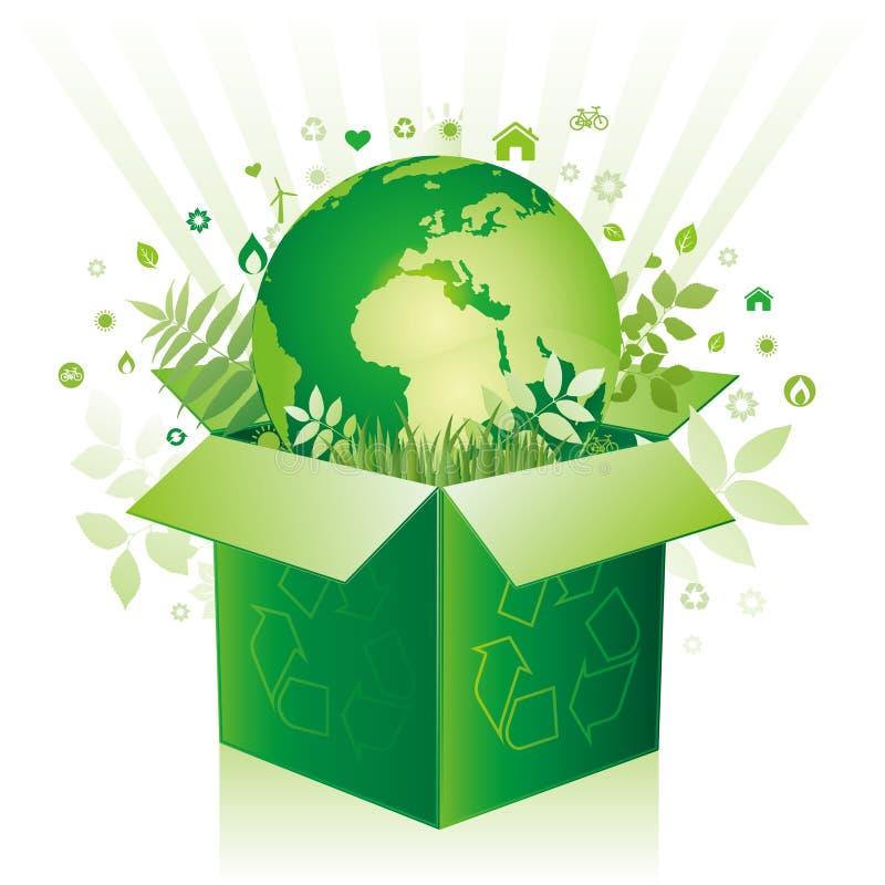 икона окружающей среды коробки иллюстрация вектора