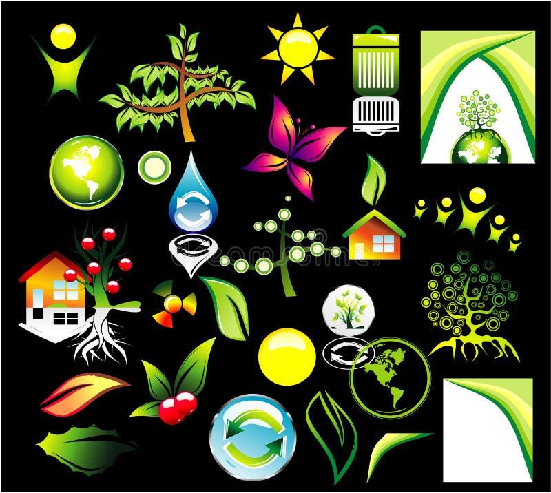 икона окружающей среды рециркулирует комплект бесплатная иллюстрация