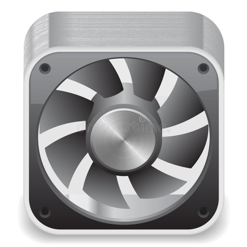 икона охладителя компьютера иллюстрация штока