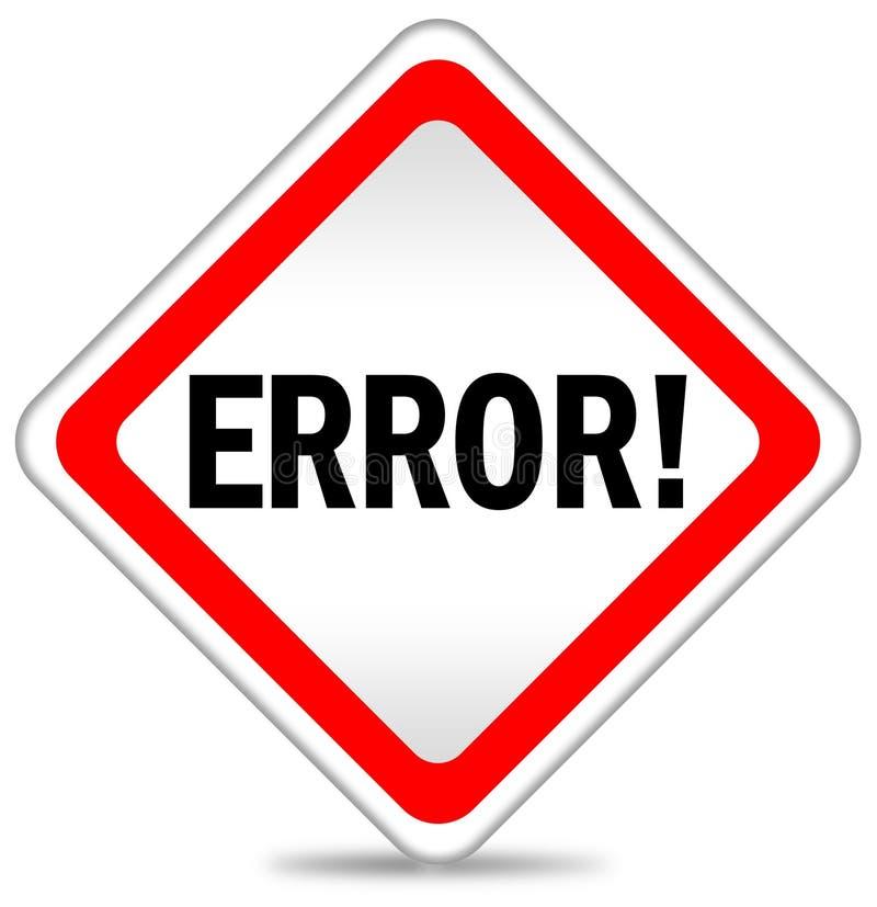 икона ошибки бесплатная иллюстрация