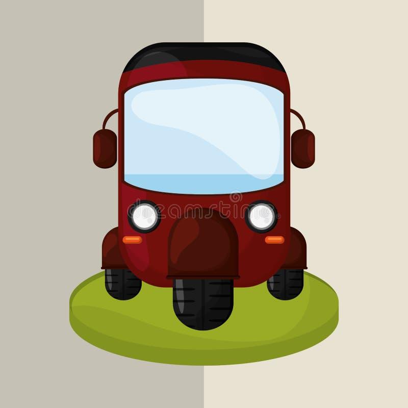 Икона перевозки принципиальная схема ретро иллюстрация автомобиля, editable вектор иллюстрация штока