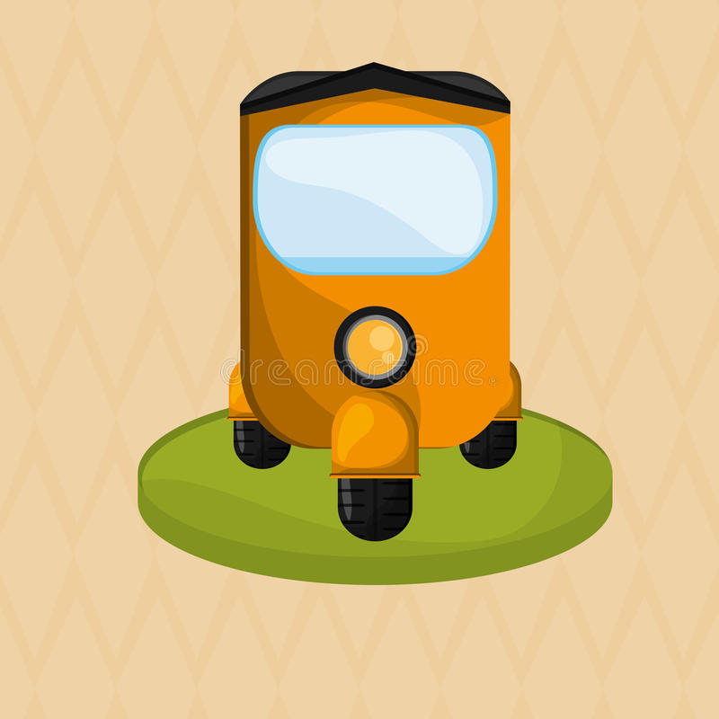 Икона перевозки принципиальная схема ретро иллюстрация автомобиля, editable вектор иллюстрация вектора