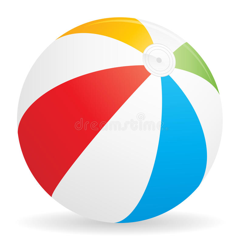 икона пляжа шарика иллюстрация штока